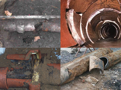 Collapsed Pipes