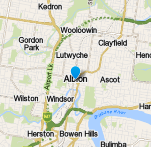 Map of Albion in Brisbane