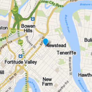 a map of Newstead and the surrounding suburbs