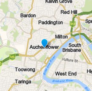 Auchenflower and surrounding suburbs