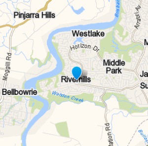 Riverhills and surrounding suburbs